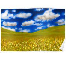 Kansas Wheat Field Poster