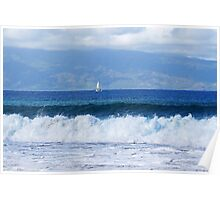 raging ocean Poster