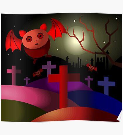 Bats at night Poster