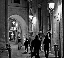 Walking in the night  by marcopuch