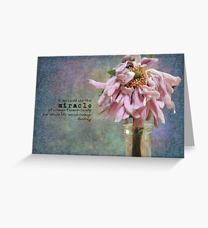 If you could see the miracle of a single flower....... Greeting Card