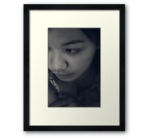 Just Me And My Feelings Framed Print