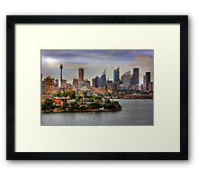Skyline - Sydney, New South Wales, Australia Framed Print