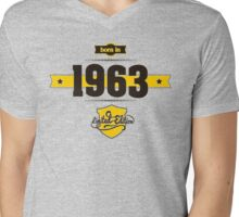 Born in 1963 (Choco&Yellow) Mens V-Neck T-Shirt