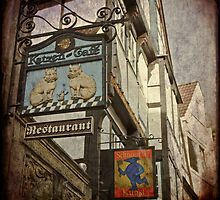 The Schnoor Shop sign by Manfred Belau
