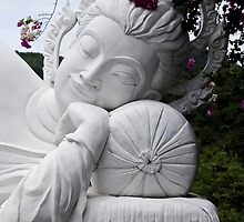 White Reclining Buddha by Dave Lloyd