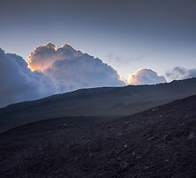 Blue sunset - Hills of volcano Etna by Diego Baroni
