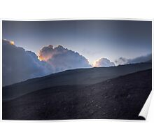 Blue sunset - Hills of volcano Etna Poster