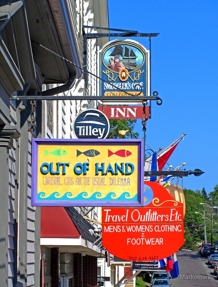 Lunenburg shop signs by Mark Sellers