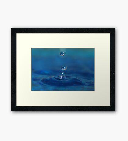 Drops in Blue Framed Print