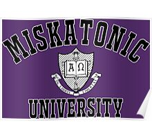 Miskatonic University Black & White Logo Poster