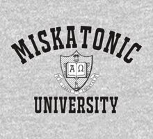 Miskatonic University Black & White Logo One Piece - Long Sleeve