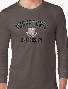 Miskatonic University Black & White Logo Long Sleeve T-Shirt