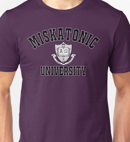 Miskatonic University Black & White Logo Unisex T-Shirt
