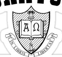 Miskatonic University Black & White Logo Sticker