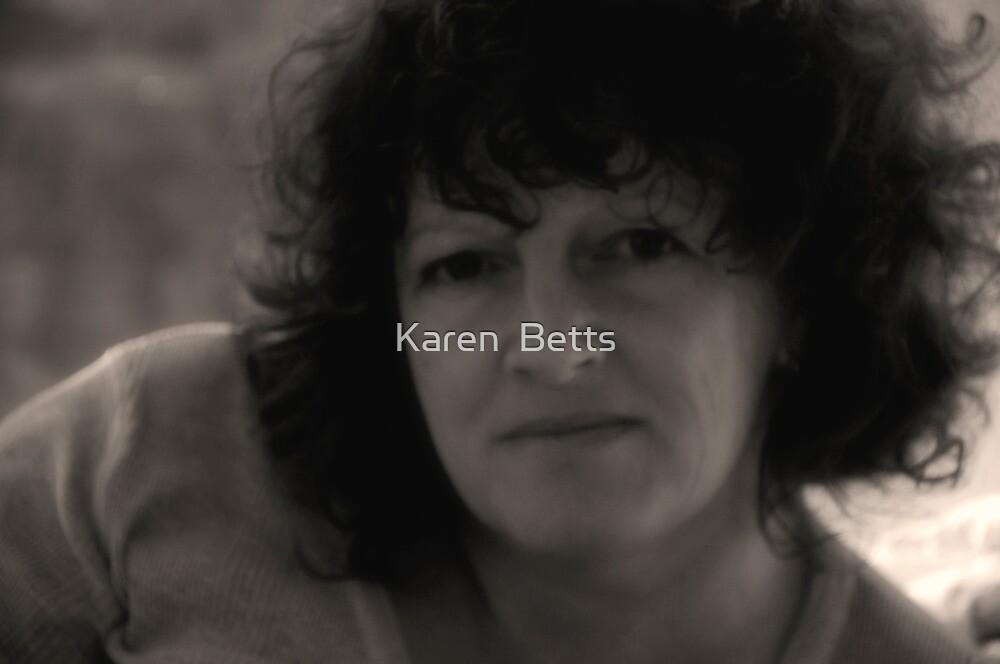 Karen (September Self Portrait B&W) by Karen  Betts