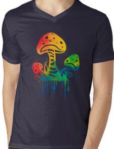 Rainbow Shrooms Mens V-Neck T-Shirt