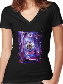 Symphony of parallel Worlds Women's Fitted V-Neck T-Shirt