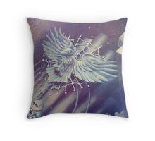 Haunted Organ Crow Throw Pillow