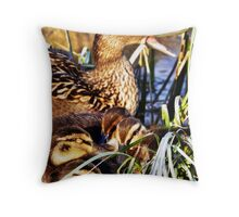 Duck Family Throw Pillow
