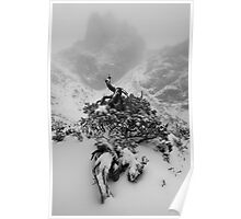 Lions Head through the mist Poster