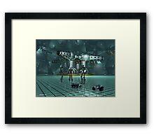 Little lost robots Framed Print