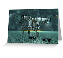 Little lost robots Greeting Card