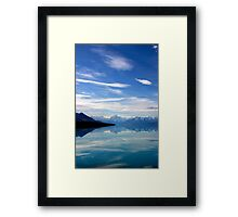 Lake Pukaki and Mount Cook NZ Framed Print