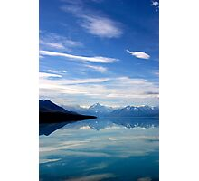 Lake Pukaki and Mount Cook NZ Photographic Print