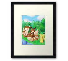A Forest Meeting Framed Print