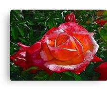 Stained Glass Rose Canvas Print