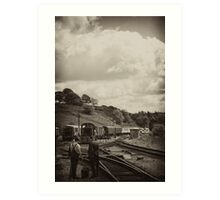 Cheddleton Track Workers Art Print