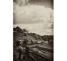 Cheddleton Track Workers Photographic Print