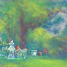 Peaceful Garden (pastel) by Niki Hilsabeck