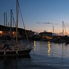 Aberaeron Harbour at sunset by millymuso