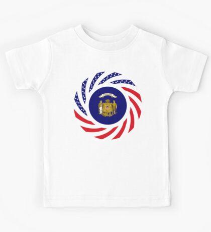Wisconsin Murican Patriot Flag Series Kids Tee