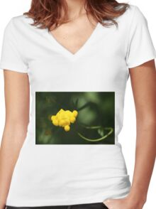 Bird's Foot Trefoil (Lotus Corniculatus)... Women's Fitted V-Neck T-Shirt