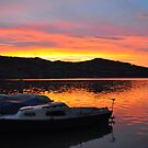 Sunset over Hallwilersee by Rosy Kueng