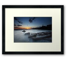 In the sea... the silence... Framed Print