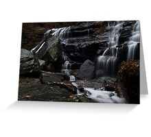 Lower cascades of Issaqueena Falls Greeting Card