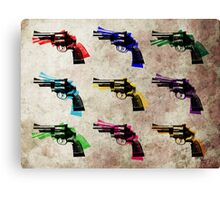 Nine Revolvers Canvas Print