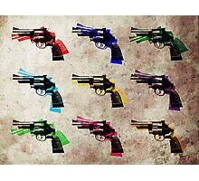 Nine Revolvers Photographic Print