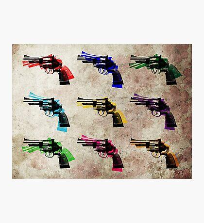 Nine Revolvers Photographic Print