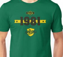 Born in 1981 (Choco&Yellow) Unisex T-Shirt