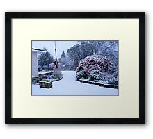 Natures white cloak - NZ - Southland Framed Print