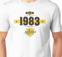 Born in 1983 (Choco&Yellow) Unisex T-Shirt