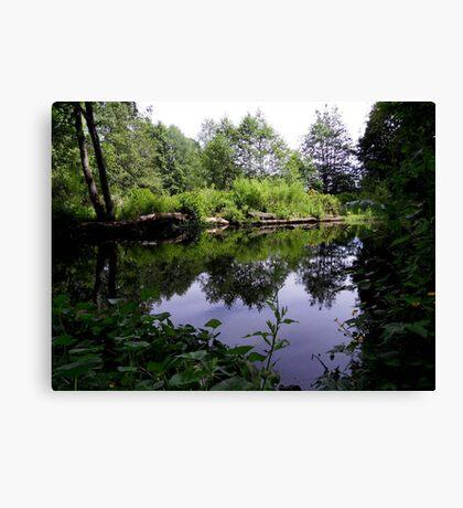 Acorn Bank Gardens Secret Lake Canvas Print
