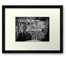 Changing the focus Framed Print