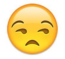 Annoyed Emoji Photographic Print