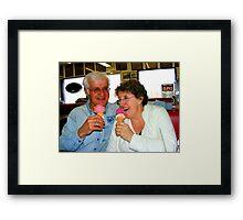 Enjoying a Good Laugh Together Framed Print